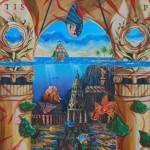 """""""Underwater Atlantis"""" """"  100x250cm"""