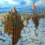 """Building of an Air City"" ""  100x80cm"