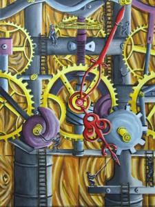 """""""Sekrety zegara""""  30x40cm"""
