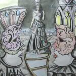 """""""Wybudzenie  księżnej nocy"""" (rysunek format: 43x60.5cm"""
