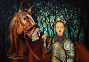 """""""W obronie wolności - Joanna d'Ark""""  -  100x70cm"""
