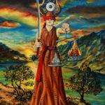 """""""Na przeciw światu - Temida"""" olej na płótnie format 46x33cm"""