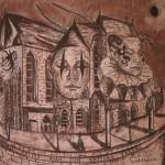 """Aleja snu"" – studium do obrazu (rysunek, format: 63x50 cm"