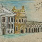 """""""Die versunkene Atlantis"""" (Zeichnungsstudie 1, Format 60x40cm"""
