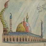 """""""Die versunkene Atlantis"""" (Zeichnungsstudie 3, Format 60x40cm"""
