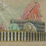 """""""Die versunkene Atlantis"""" (Zeichnungsstudie 4, Format 60x40cm"""