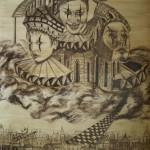"""""""Das alte Bollwerk"""" (Zeichnung, Format 82x62cm"""