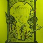 """""""Der Teufelsspiegel"""" (Zeichnung, Format 50x70cm"""