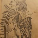 """""""Der Fluch der Engelin"""" (Zeichnung, Format 46x68cm"""