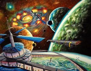 """""""Kolonizacja wszechświata"""" -  100x80cm"""