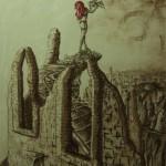 """""""Die letzte Hoffnung in der Zauberei"""" (Zeichnung, Format 60,5x80,5cm"""