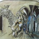 """""""Die Odyssee der Engelwelt"""" (Zeichnung, Format 57,5x42cm"""