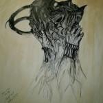"""Ósmy krąg 1"" (rysunek, format: 54.5x69cm"
