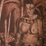 """""""Der Abgrund"""" (Zeichnung, Format 50x70cm"""