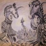 """""""Przeobrażenie podświadomości"""" (rysunek, format: 21x24cm"""