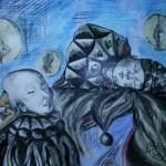"""""""Sen Morfeusza"""" (rysunek, format: 53.5x67.5 cm"""