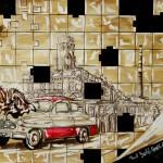 """""""Skok w przeszłość"""" (rysunek format: 29x43cm"""