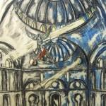 """Strzegąc wyobraźnię"""" (rysunek format: 30x38cm"""