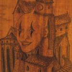 """""""Die glückliche Gasse"""" (Zeichnung, Format 60x45cm"""