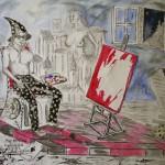 """""""Der Zauber des Genies"""" (Zeichnung, Format 64x45cm"""