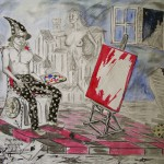 """Magia wirtuoza"" (rysunek, format: 64x45 cm"