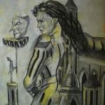 """""""Zaklęta w magię"""" (rysunek, format: 61x70 cm"""