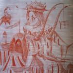 """""""Die Ankündigung eines Traumes"""" (Zeichnung, Format 68x70cm"""