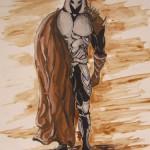 """""""Die Rache von Odin"""" (Zeichnung, Format 40x55cm"""