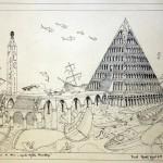 """""""Legenda Trójkąta Bermudzkiego"""" Zeichnung, Format 38x48cmzu verkaufen"""