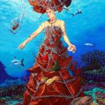 """""""Oceaniczny grabarz"""" - olej na płótnie format 120x80cm"""