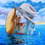 """""""Przebudzenie morskiej twierdzy"""" - olej na płótnie format 70x50cm"""