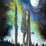 """""""Królestwo uśpionego dźwięku"""" rysunek format 31x21cm  na sprzedaż"""